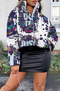 طباعة كامو طويلة الأكمام يلبس طية صدر السترة معطف NK194