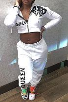 Multi Fashion Loose Pants Sets Casual Long Sleeve Printing Korean Temperament Commuting Coat Sets AFY704