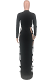 Night Out Sexy Long Sleeve Hollow Out Long Dress ZZS8360
