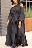 Casual Sexy Long Sleeve Off Shoulder Long Dress ZZS8358