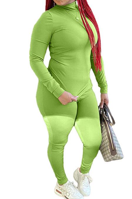 Womenswear Pure Color Fashion Side Slit Fleece Two-Piece QY5031