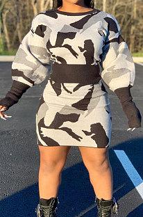 Fashion Printing Casual Two-Piece Skirts Sets SQ931