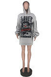 Casual Simplee Paper Graphic Long Sleeve Hoodie ZZS8354