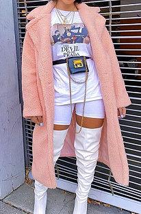 Moda feminina inverno simplee virado para baixo solto lapela pescoço casaco Villi AA5213