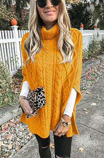 Повседневные гламурные свитера с высоким воротом и длинными рукавами Simplee KF252