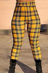 Calça comprida casual fashion xadrez WT9035