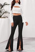 Casual Simplee High Waist Flare Leg Pants LD8566