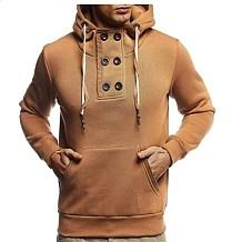 Man Hooded Casual Fleece Set Head Hoodies Coat TW1900B