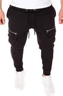 Calças de jogging cultivam a moralidade de alguém, esporte casual, pé, boca, zíper, calças compridas, TW08