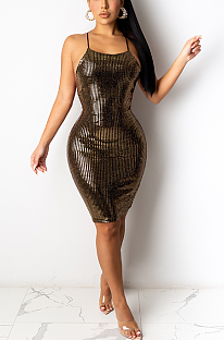 Night Out Sexy Sequins Midi Dress YF8826