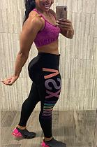 Sexy Letter Mid Waist Capris Pants BLE2220