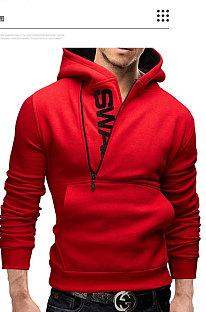 Outdoor Casual Fleece Brushed Pullover Side Zipper Multi Hooded Fleece FT08