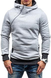 Persoonlijkheid Rits Geborsteld fleece met capuchon Casual hoodies Multi Makkelijk mee te nemen Pullover FT12
