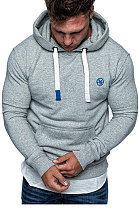 Man Hooded Fleece Brushed Embroidered Hoodies FT45