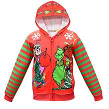 Groen Monster Grinch jasje met rits YBK3575