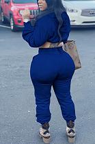 Casual Sporty Long Sleeve Ruffle Hoodie Long Pants Sets
