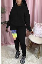 Casual Simplee Long Sleeve Hoodie Long Pants Sets MDF5196