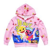 Kinderen Hooded Vest Shark Printing Meisje Baby Kinderkleding Jas YBK35006