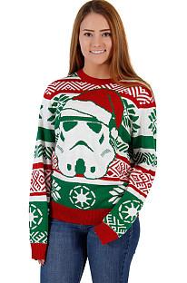 Vestido de Natal com estampa de Papai Noel feminino com capuz vestido combinando QZZ8572