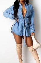 Fourche latérale de vêtements pour femmes avec une robe sexy de cowboy de ceinture LA3242