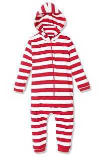 Christmas Striped Family One-Piece Suit