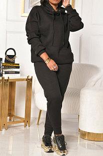Φθινόπωρο Χειμώνας Γυναικεία Ρούχα Χρώμα με κουκούλα Fleece Two-Piece XT8823