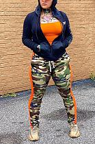 Повседневные длинные брюки из полиэстера с камуфляжным принтом и шнурком со средней талией YFS3646