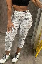 Calça Casual justa cintura alta da moda WXY8828