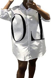 Fashion عارضة Joket فضفاض قميص ليتر واحد الصدر BLK0312