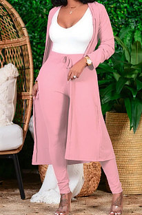 Long Coat Pure Color Two-Piece Does Not Contain White Vest DY6637