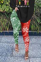 Развивайте свое нравственное шоу Тонкие рождественские сексуальные штаны с цифровой печатью BLK1102