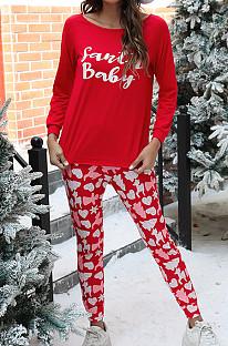 Casual Home Wear Costume de Noël à manches longues pour dames NS7924