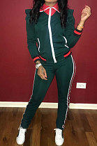 Autumn Winter Stripe Zipper Sport Suits Sets TL6188