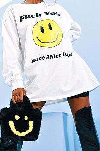 トレンド笑顔英語印刷ファッションブランドカジュアルジャケットAMM8320