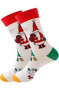Мужские носки Santa Claus Elk Men's Middle Stockings Tidal Cotton Socks ZQ2019-06