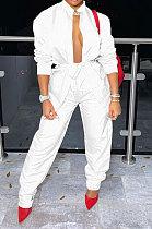 Fashion Street Trend Sexy Reflective Elastic Fabric Womenswear Two-Piece YLY178