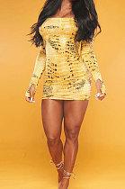 Mode pour femmes sexy robe à épaules dénudées NL6043