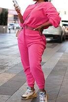 Fashion Womenswear Pure Color Dew Waist Sexy Two-Piece NL6040