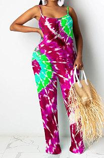 Mode Femme Combinaison Rotate Tie Dye SYY8005