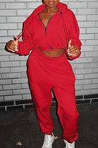 Fashion Trend Dew Waist Casual Zipper Big Bag Two-Piece SYY8037
