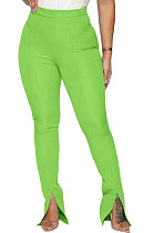 Fashion Sexy Open Fork Pure Color Casual Pants SYY8029