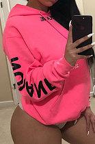 أزياء عارضة رسالة طباعة الوردي الصوف مقنع SYY8030
