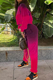 Autumn And Winter Sports Casual Suit With Color Pradient ALS3585