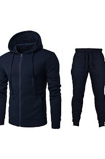 Casual Fashion Velvet Loose Men And WoMen Cardigan Long Slevee Hoodie Suit MID1162