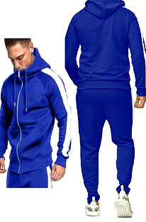 Men's Autumn And Winter Loose Keep Warm Casual Cardigan Hooded Sport Suit MID100513