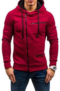 Casual Fashion Velvet Zipper Hooded Loose Coat MID11