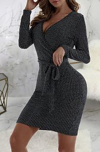 Sexy Fashion Hot V-Neck Dresses SMR9971