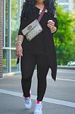 Casual Fashion Oblique Shoulder Irregularity Fold Two-Piece K2015