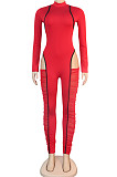 High Collar Joining Together Perspective Net Yarn Cultivate One's Morallity Jumpsuits K2068