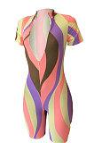 Shorts de combinaisons de taille élastique à rayures sexy pour femmes colorées CCY6051